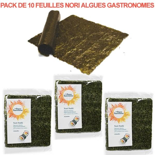 Feuilles d'algues nori naturelles pour sushi Algues Gastronomes