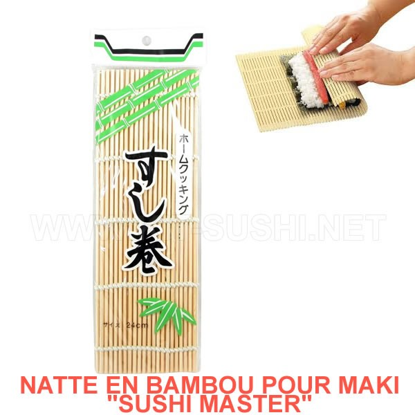natte en bambou pour sushis makis kit sushi traditionnel ustensile maki. Black Bedroom Furniture Sets. Home Design Ideas