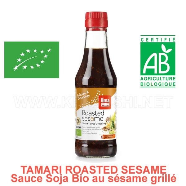 Assaisonnement sauce soja bio Tamari au sésame grillé