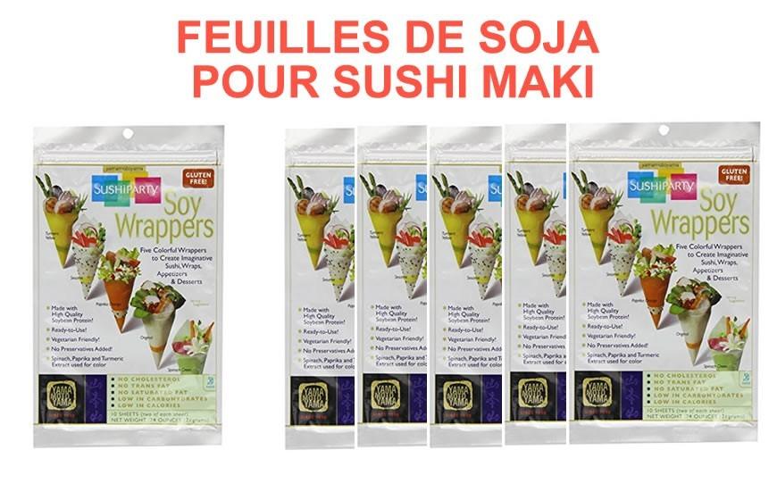 Feuilles de soja pour sushi
