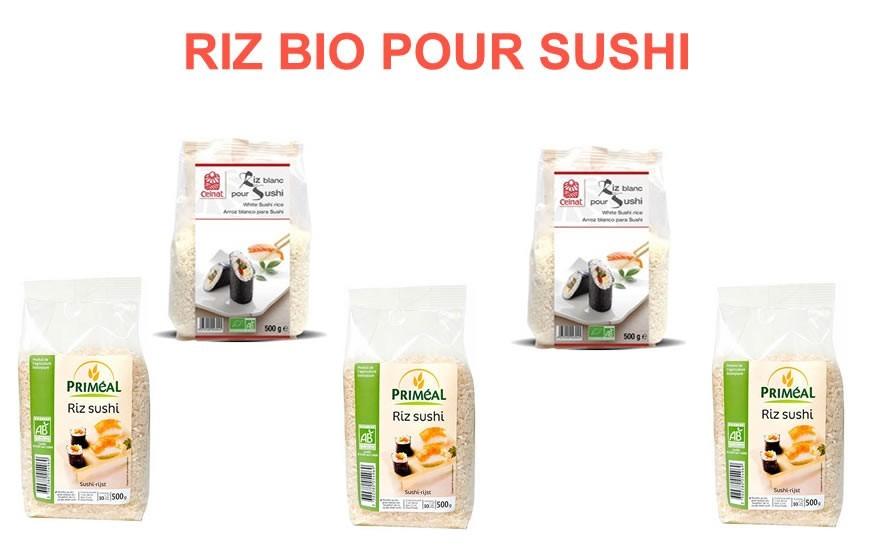 Riz bio pour sushi
