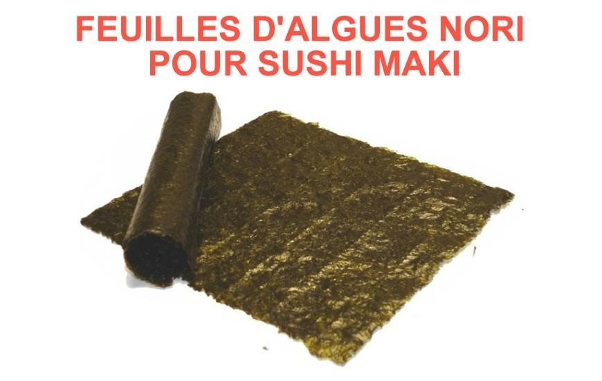 Feuilles d'algues nori