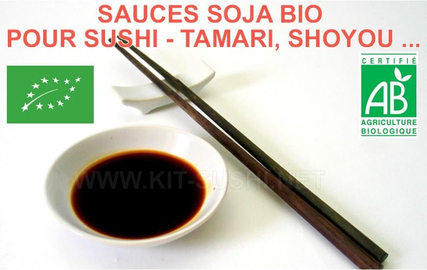 Sauces soja bio pour sushi