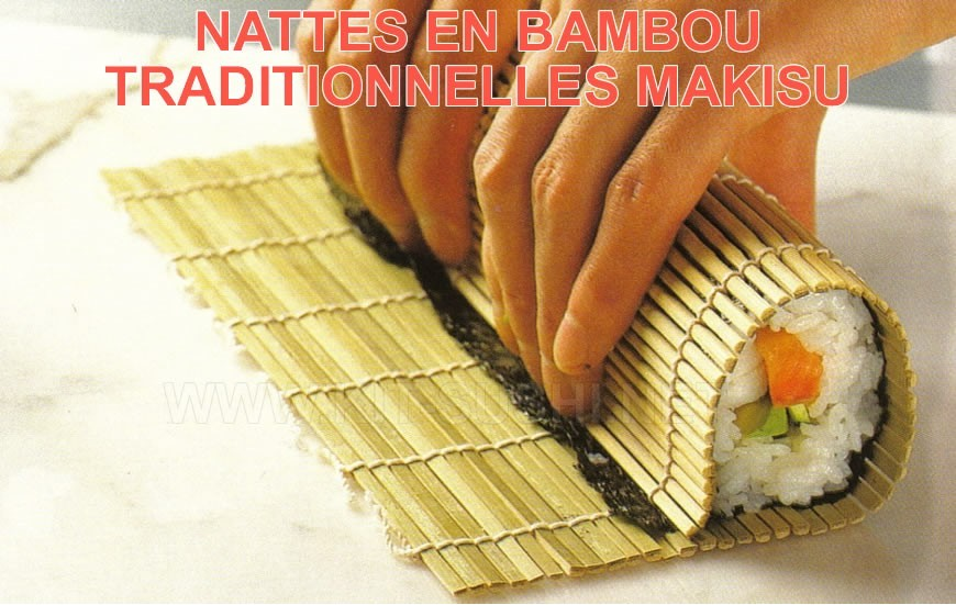 Nattes traditionnelles en bambou Makisu